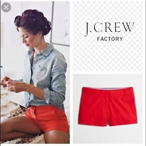 J. Crew shorts red size 12